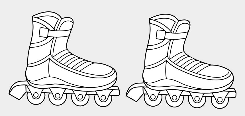 skating clipart, Cartoons - Roller Skates Clipart Coloring Page - Roller Blades Line Art