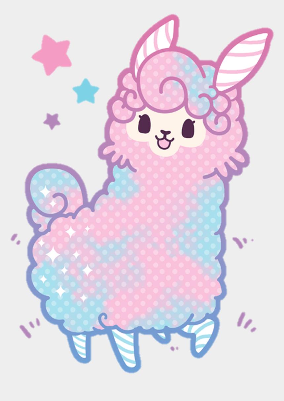 llama clipart, Cartoons - Llama Clipart Kawaii - Cotton Candy Kawaii Llama