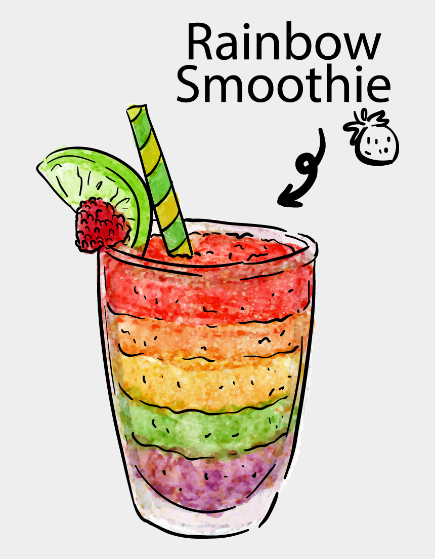 juice clipart, Cartoons - Juice Clipart Png Image - Rainbow Smoothie No Background