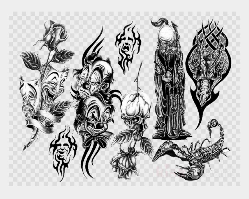 joker clipart, Cartoons - Clown Tattoos Png Clipart Joker Tattoo Evil Clown - Arm Tattoo Transparent Sleeve Png