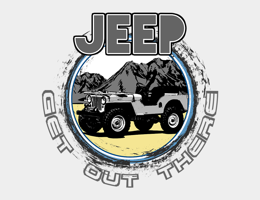 jeep clipart, Cartoons - Bleed Area May Not Be Visible - Jeep Cj