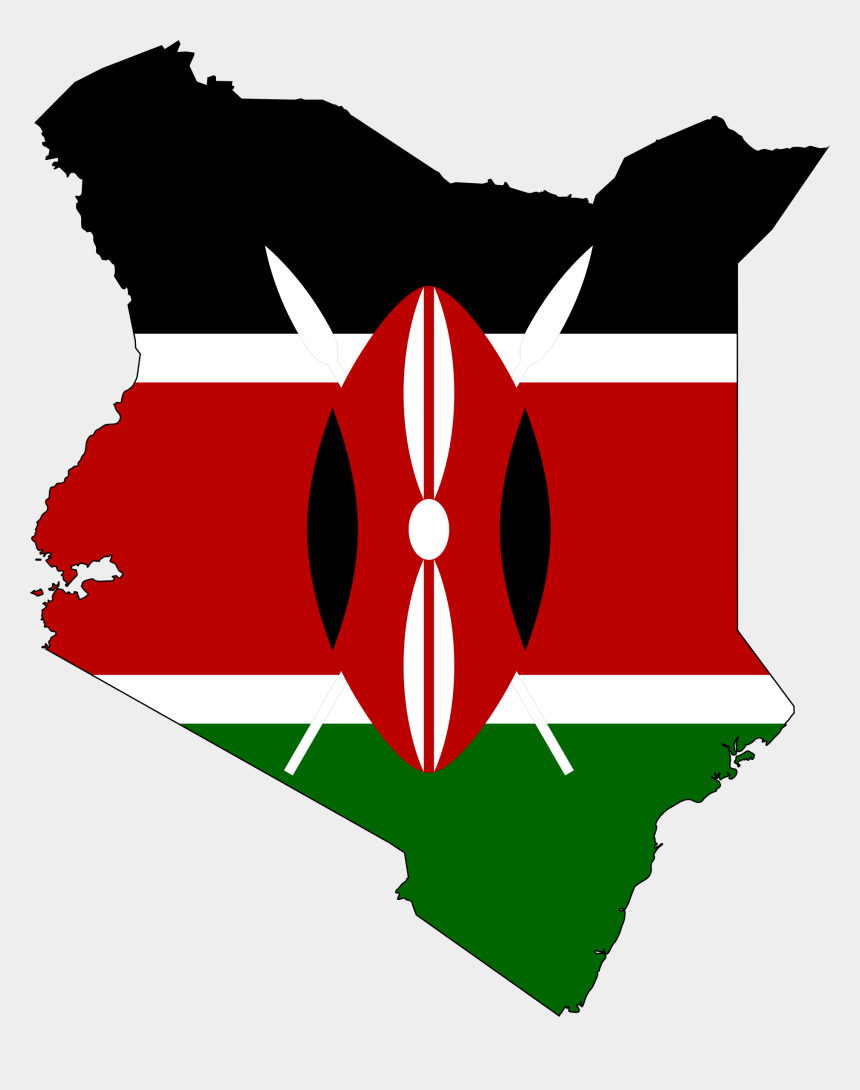 africa clipart, Cartoons - Africa Clipart - Kenya Flag In Country