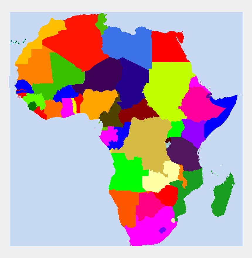 africa clipart, Cartoons - Map Of Africa Cartoon