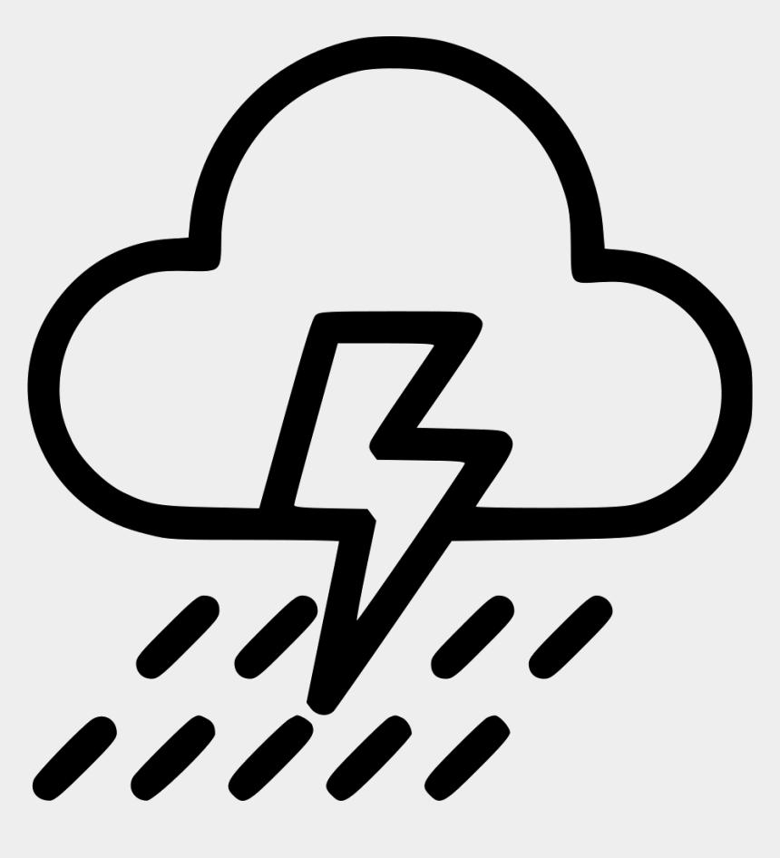 thunder cloud clip art, Cartoons - Cloudy With Rain Symbol
