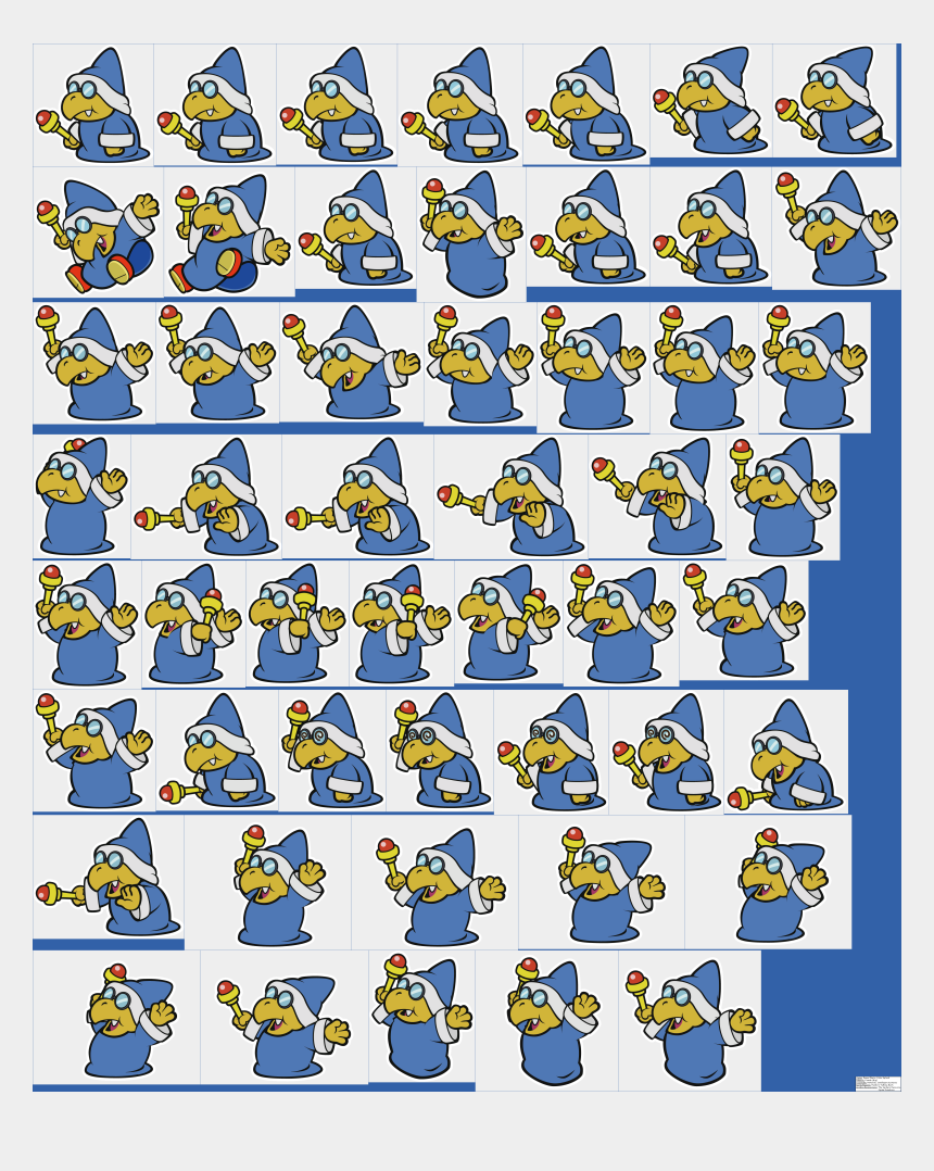 free random clip art, Cartoons - Paper Mario Color Splash Kamek
