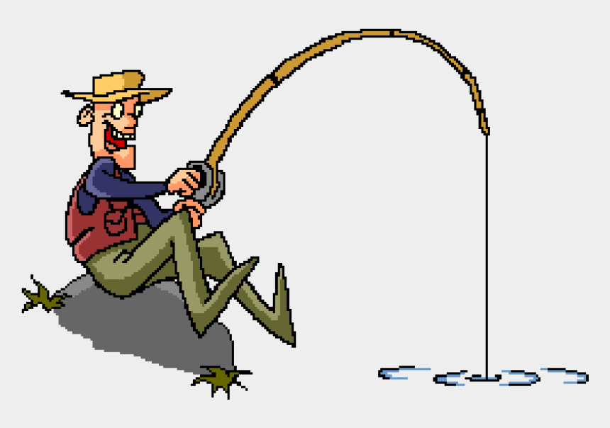 fisherman clipart gif, Cartoons - Happy Birthday Fishing Gif