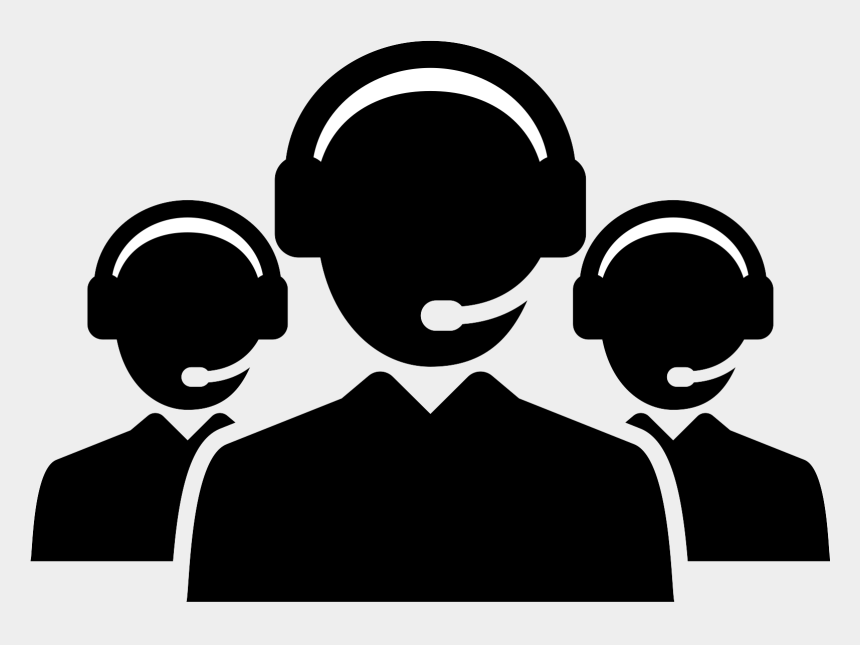 customer service clip art free, Cartoons - Call Center Agent Silhouette Png