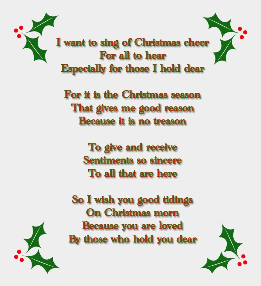 christmas poem clipart, Cartoons - Christmas Poem Png