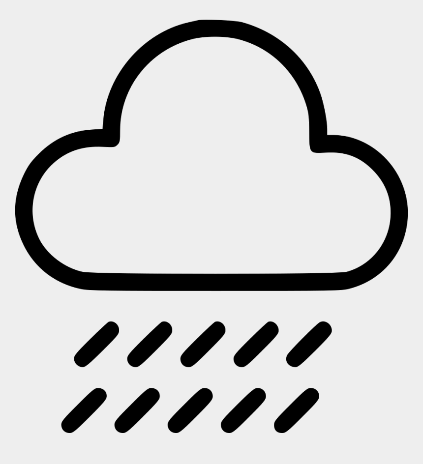 dark rain cloud clipart, Cartoons - Cloudy With Rain Symbol