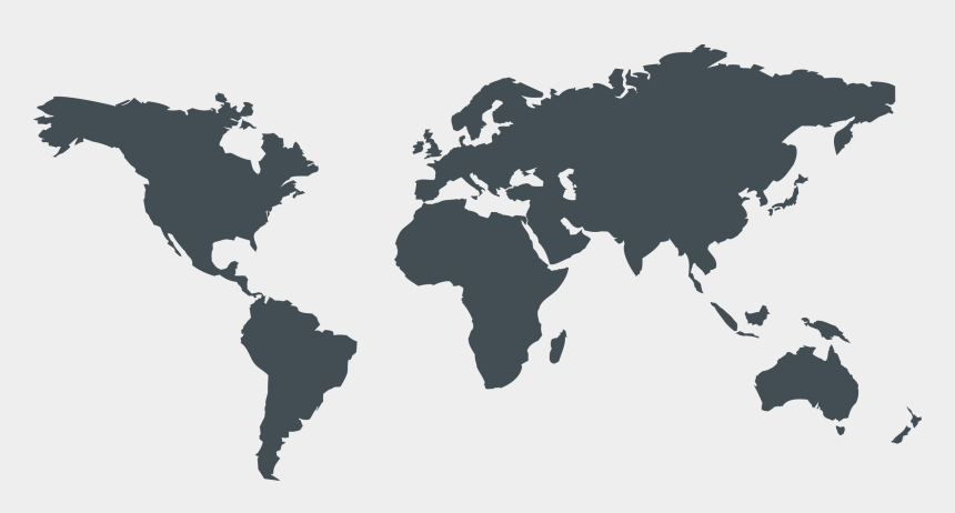 world maps clip art free, Cartoons - World Map Silhouette Png