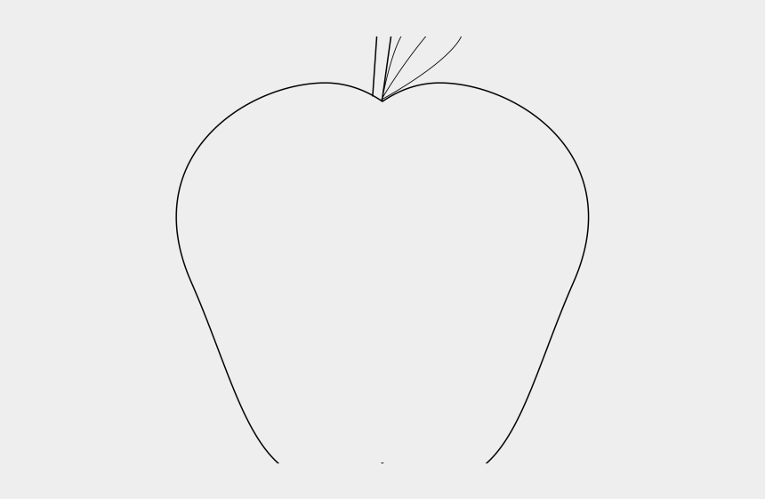 apple outline clipart black and white, Cartoons - Heart
