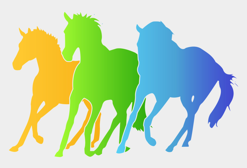 hobby horse clip art, Cartoons - Horse Herd Silhouettes