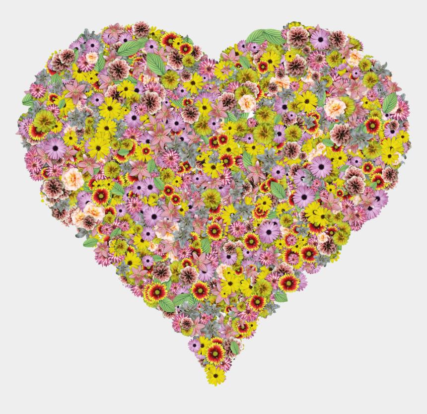 free oxygen clipart, Cartoons - Flower Heart Transparent Background
