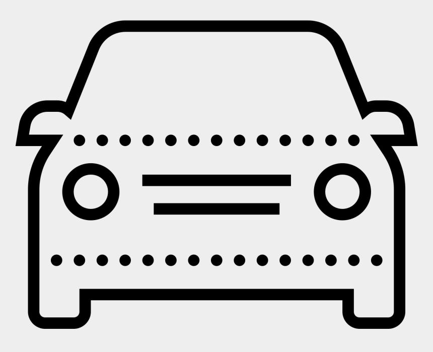 clip art vehicle icons, Cartoons - Car Line Icon Png