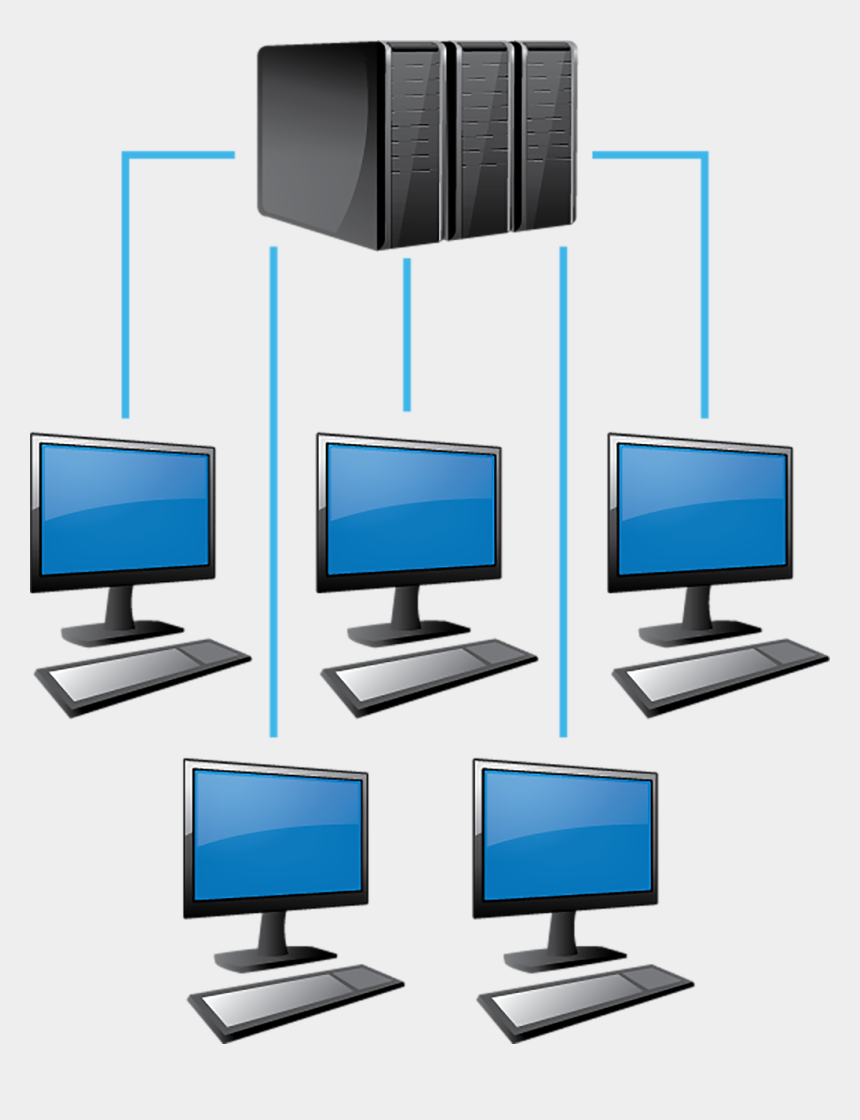 network hardware clip art, Cartoons - Types Of Network In Computer