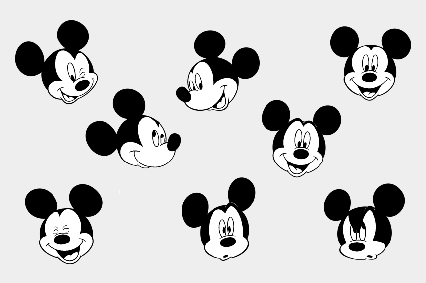clipart svg mickey mouse, Cartoons - Mickey Mouse Face Expressions