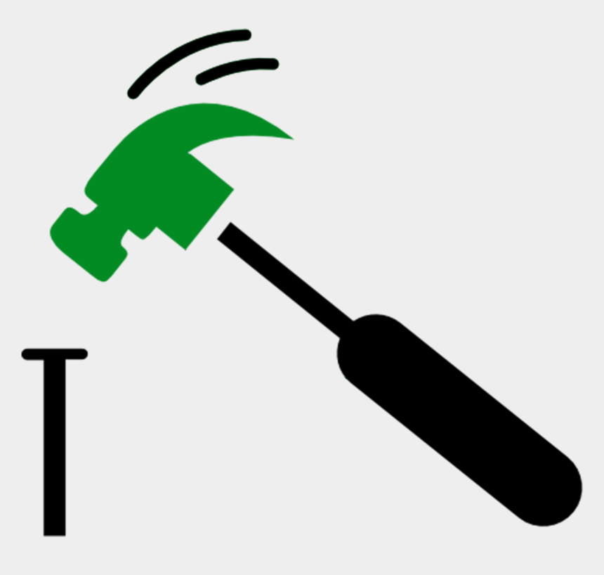 gardening tools clipart black and white, Cartoons - Transparent Background Nail And Hammer Clipart