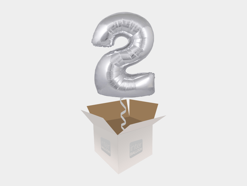 happy 2nd birthday boy clipart, Cartoons - Silver 2 Foil Balloons Transparent