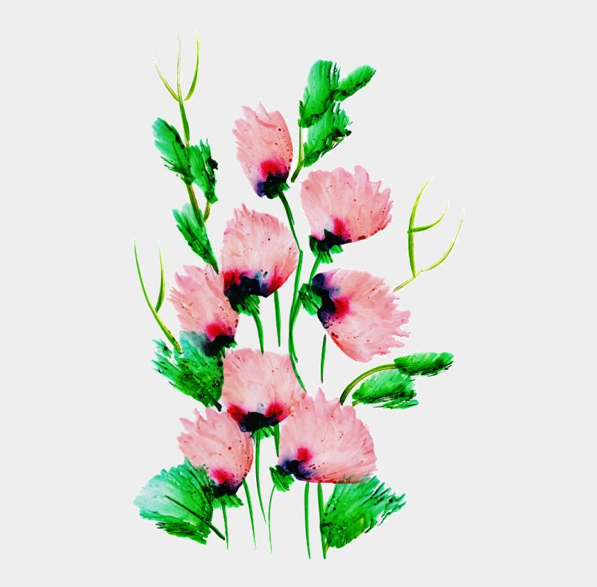 watercolor flower bouquet clipart, Cartoons - Bouquet