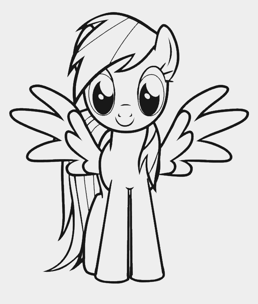 Dibujos De My Little Pony Para Colorear Rainbow Dash, Cliparts & Cartoons -  Jing.fm