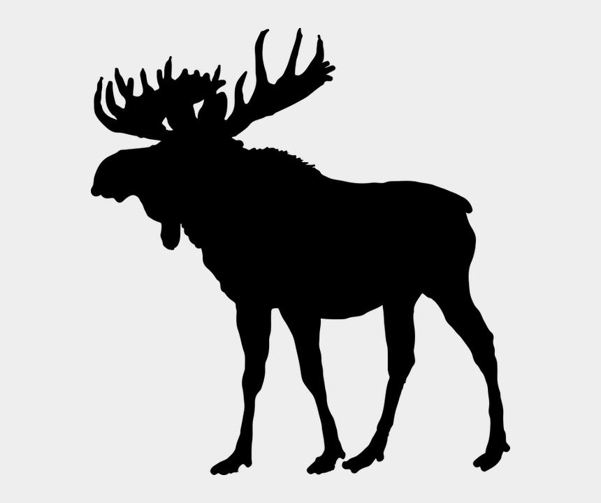 free clipart deer antlers silhouette, Cartoons - Moose Silhouette Png