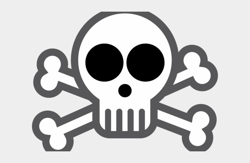 easy skull and crossbones clipart, Cartoons - Skull And Crossbones To Draw