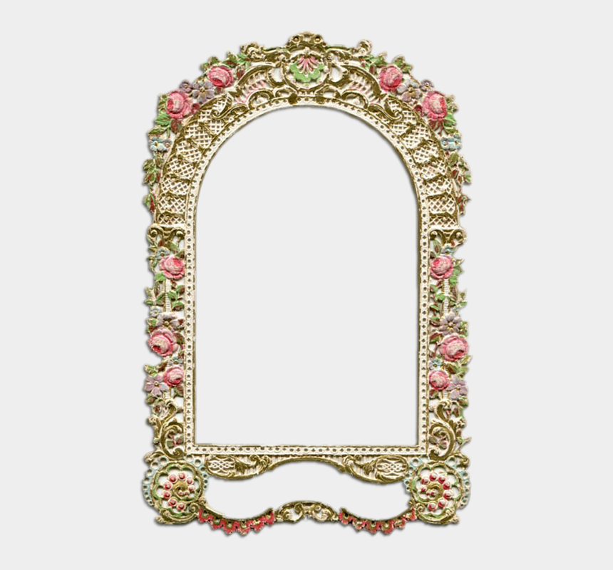 pretty ornate frame clipart, Cartoons - Gold Vintage Frame Png