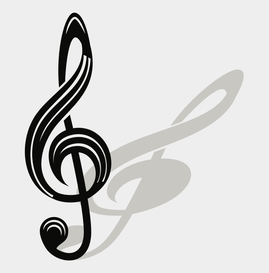 gold treble clef clipart, Cartoons - Music Note Logo Png