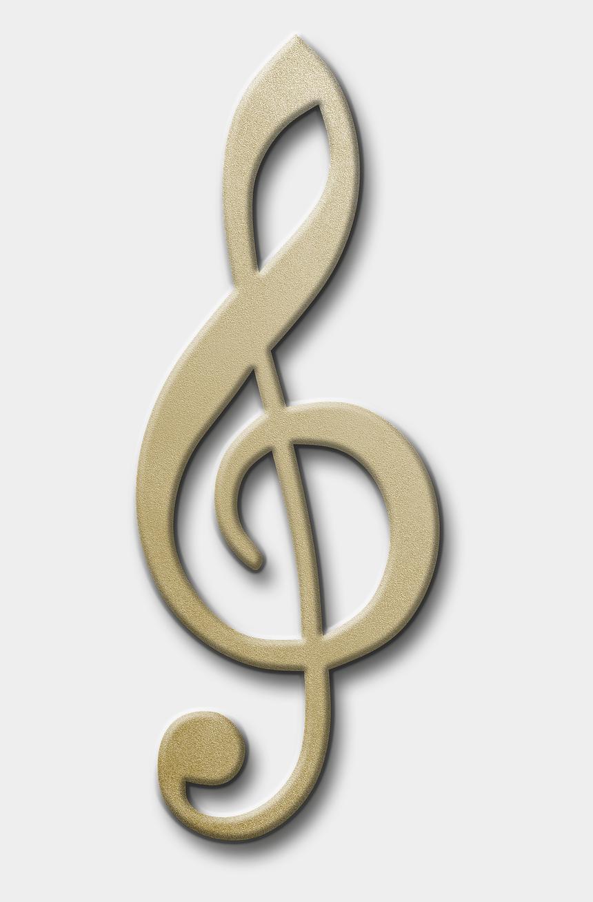 gold treble clef clipart, Cartoons - Clave De Sol Dorada Png