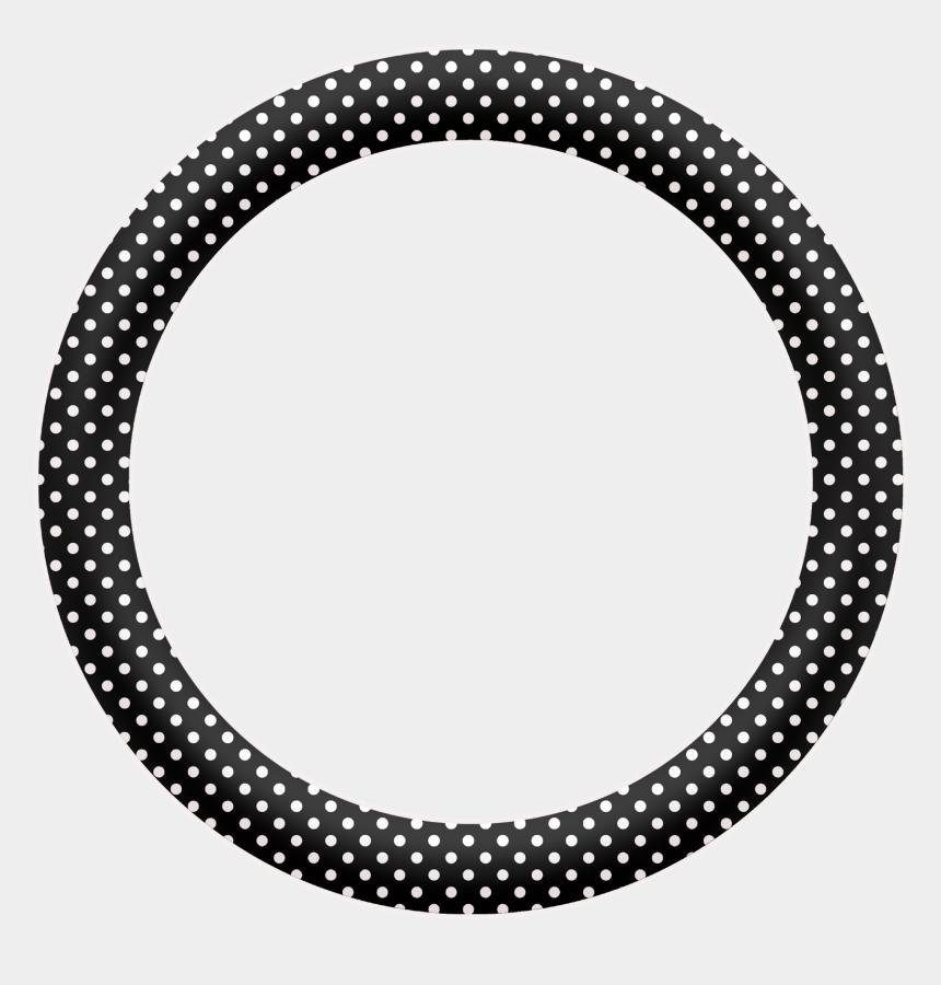 polka dot circle border clipart, Cartoons - Tag Redondo Preto E Branco