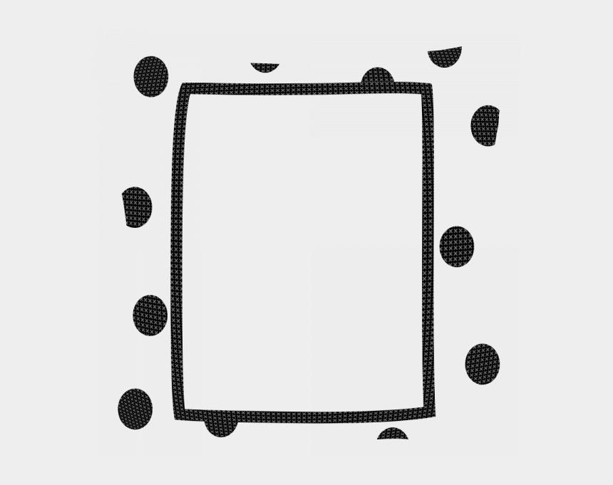 black and white polka dot border clipart, Cartoons - Polka Dot Border Clipart