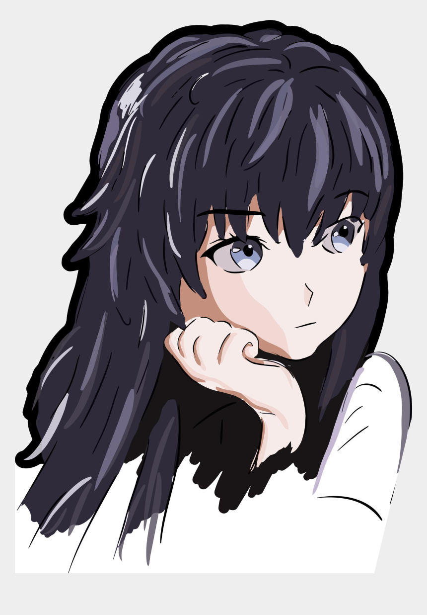 anime girl png clipart, Cartoons - Anime Girl Icon Png