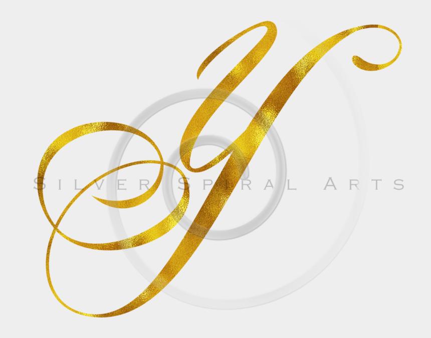 metallic gold glitter clipart, Cartoons - Monogram