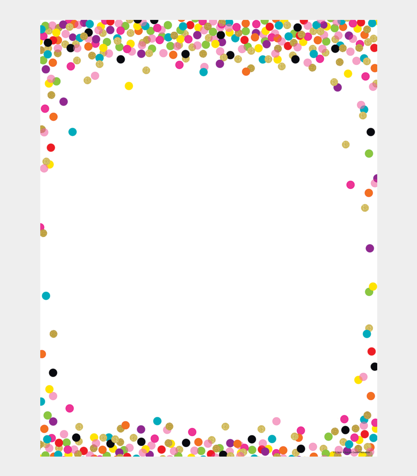 colorful confetti border clipart, Cartoons - Confetti Blank Chart - Rainbow Polka Dot Background