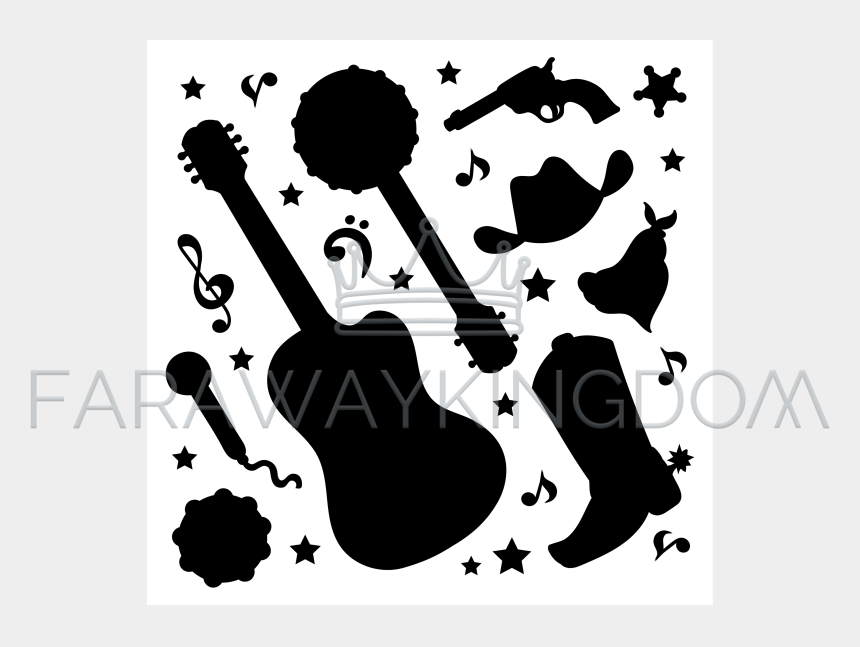 country western christmas clipart, Cartoons - Music Festival
