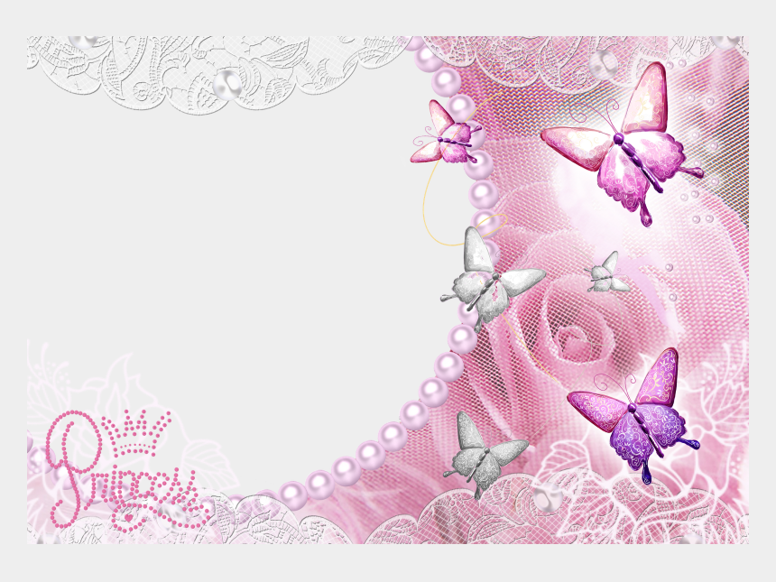wedding butterfly border clipart, Cartoons - Butterflies Photo Frame Png