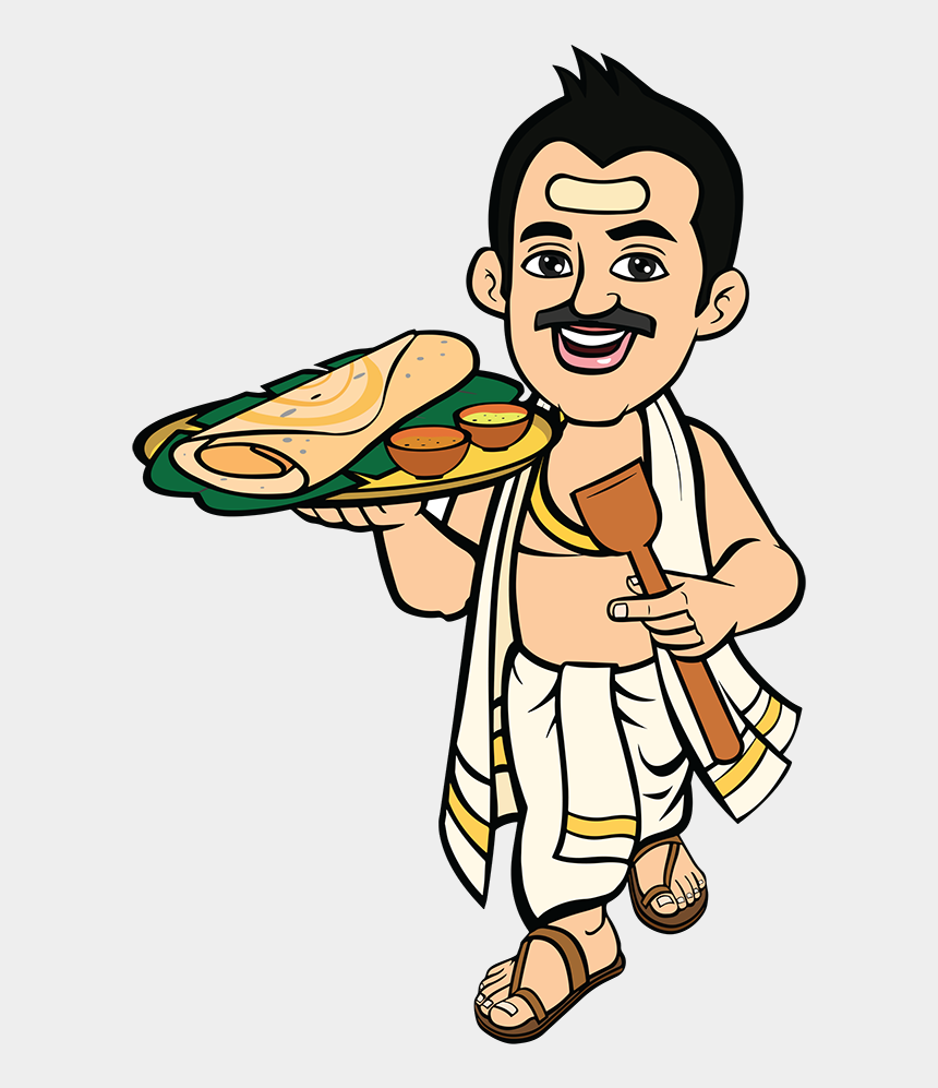 indian woman clipart png, Cartoons - Swamy South Indian Food Express