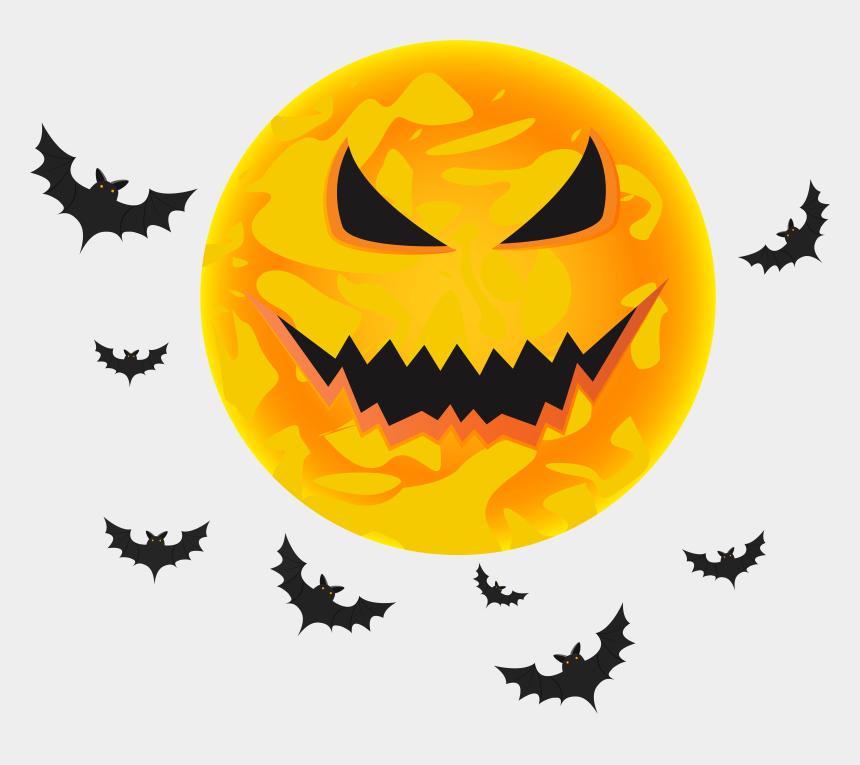 halloween bat moon clipart, Cartoons - Halloween Bat Moon Clipart