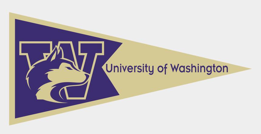 college pennants free clipart, Cartoons - University Of Washington Seattle Pennant
