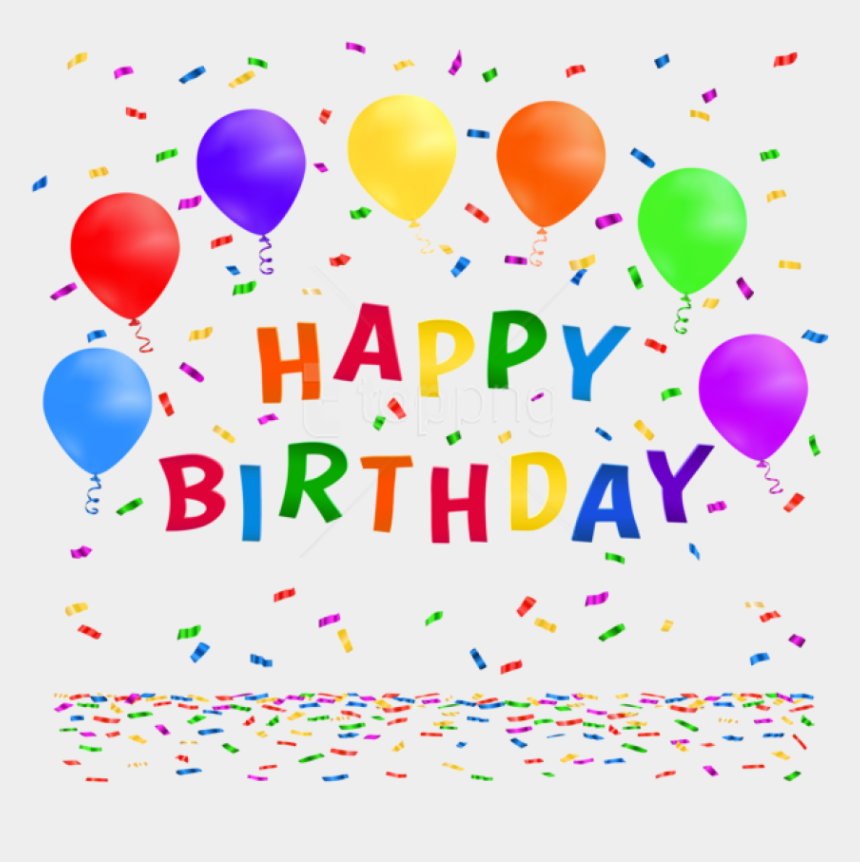 streamers and confetti clipart, Cartoons - Happy Birthday Balloons Confetti