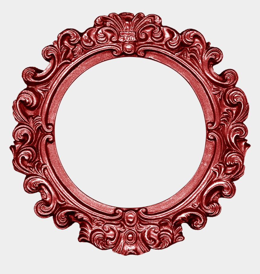 mirror frame clipart png, Cartoons - Circle Photo Frame Png