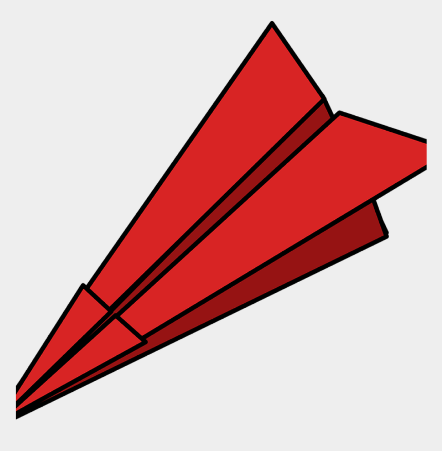 paper plane flying clipart, Cartoons - Red Paper Airplane Clipart