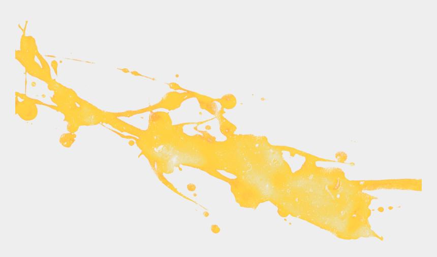 yellow paint splash clipart, Cartoons - Yellow Paint Brush Png