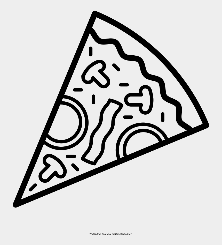 pizza clipart outline, Cartoons - Outline Picture Of Pizza