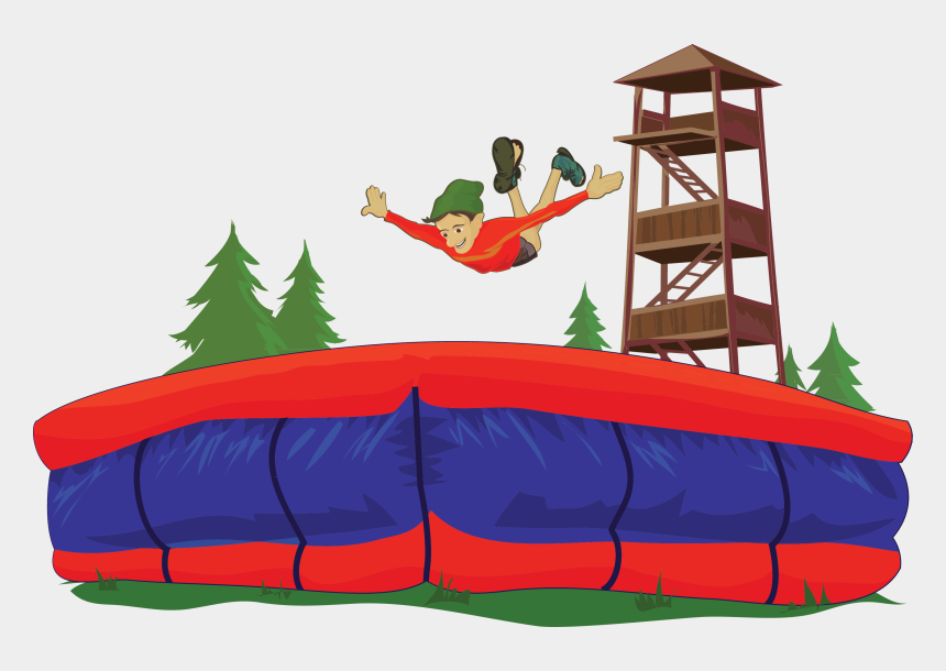 long jump image clipart, Cartoons - Big Air Bag Jump