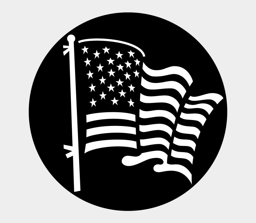 distressed flag clipart black and white, Cartoons - American Flag Background Black And White Free