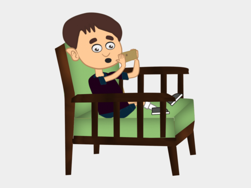 cell phone addiction clipart, Cartoons - Children And Smart Phone Cartoon Png