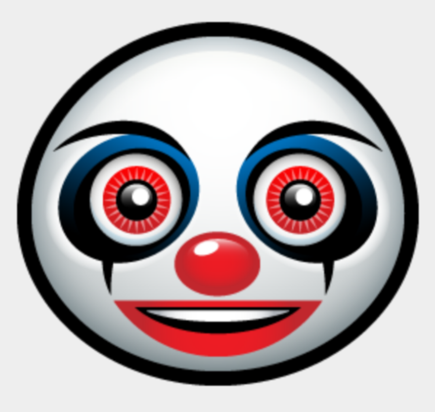 clown smiley face clipart, Cartoons - Scary Emojis