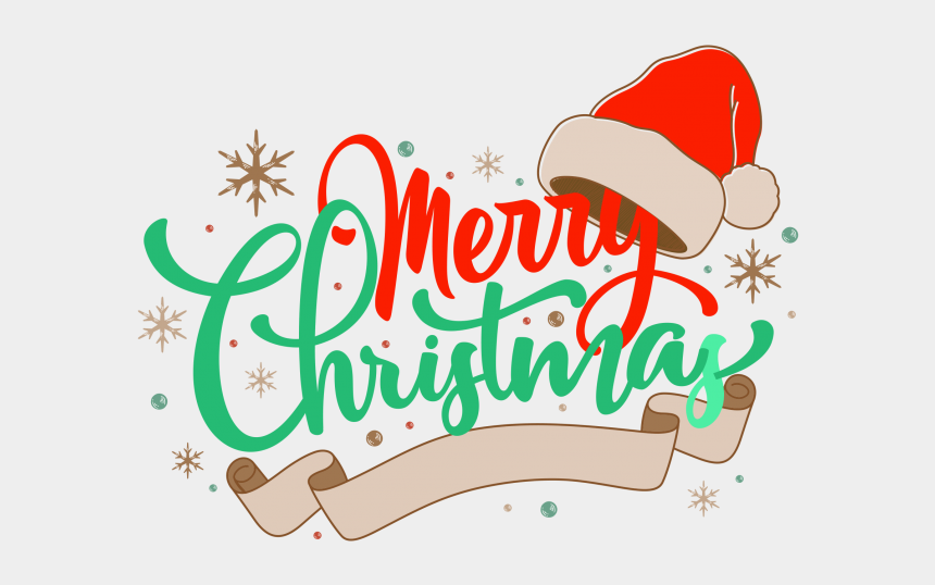 merry christmas calligraphy clipart, Cartoons - Png Text Merry Christmas