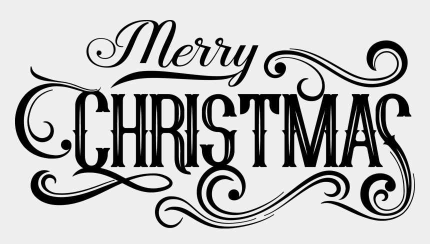 merry christmas calligraphy clipart, Cartoons - Calligraphy